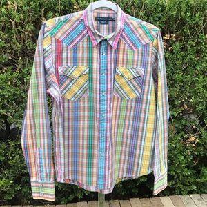 Ralph Lauren Tops - Ralph Lauren Colorful Western Shirt Pearl Snaps 14